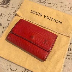 Louis Vuitton epi red 6 key cles